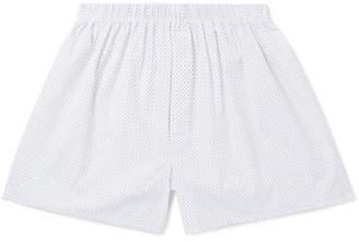 Sunspel Printed Cotton Boxer Shorts