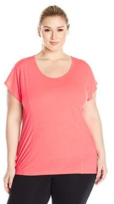 Fruit of the Loom Women's Plus Size Open Back T-Shirt