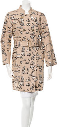 Marc by Marc Jacobs Printed Double-Breasted Jacket w/ Tags $195 thestylecure.com