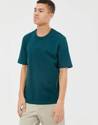 Asos loose fit heavyweight t-shirt in dark green