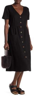 Cotton On Camila Front Button Woven Midi Dress