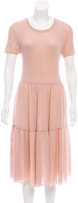 Roche Ryan Silk-Cashmere Midi Dress