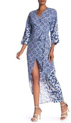 Rachel Roy Tile Print Woven Kimono Dress