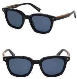 Ermenegildo Zegna Men's 50MM Square Sunglasses - Black