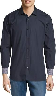 Jared Lang Men's Cotton Contrast Cuffs Shirt