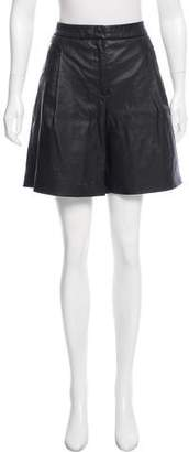 J.Crew J. Crew High-Rise Leather Shorts