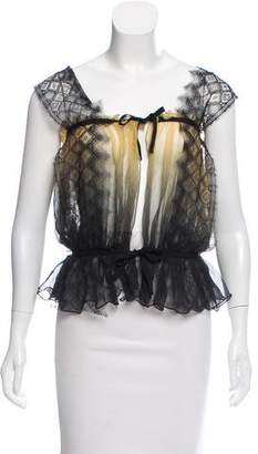 Anne Valerie Hash Sleeveless Lace-Accented Top
