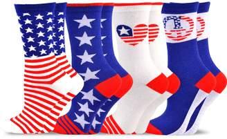 Americana TeeHee Socks TeeHee Novelty Fashion Crew Socks for Women 4-Pack