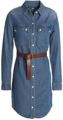 MICHAEL Michael Kors Belted Denim Mini Shirt Dress