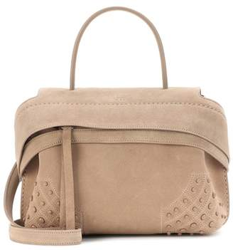 Tod's Wave Mini suede tote