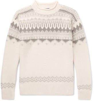 Ralph Lauren Purple Label Fair Isle Cashmere And Wool-Blend Sweater