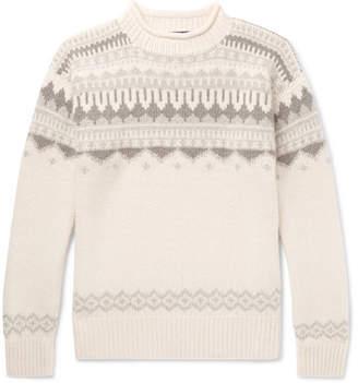 Ralph Lauren Purple Label Fair Isle Cashmere And Wool-Blend Sweater