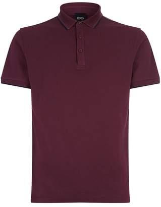 BOSS ORANGE Knitted Collar Polo Shirt