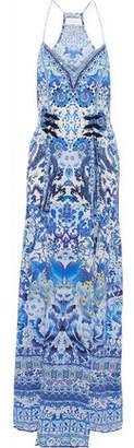 Camilla Guardian Of Secrets Layered Embellished Printed Silk Maxi Dress