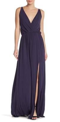 Couture Go Surplice Front Slit Maxi Dress