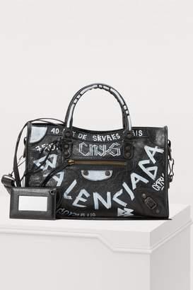 Balenciaga City handbag with graffiti
