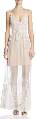 WAYF Clara Illusion Mesh Maxi Dress $128 thestylecure.com