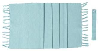 Home Collection Basics - Blue Ribbed Tassel Table Runner