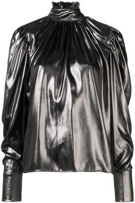 Federica Tosi high-neck metallic blouse