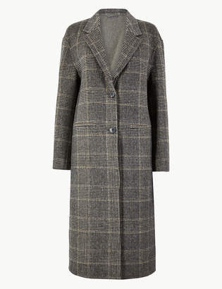 Marks and Spencer Checked Double Faced Coat