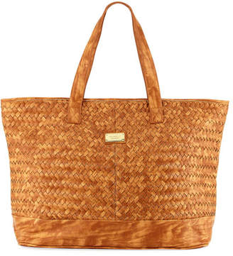 Seafolly Carried Away Woven Tote Bag $112 thestylecure.com