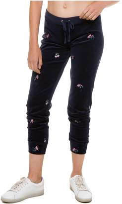 Juicy Couture Floral Embroidered Velour Track Pant
