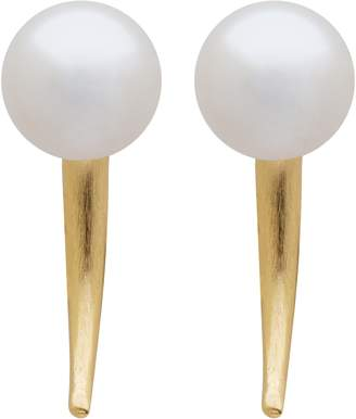 L. Erickson Simulated Pearl Small Spike Earrings
