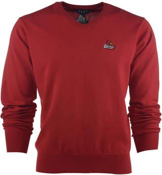 VESI Men's Louisville Cardinals Solid V-Neck Sweater $75 thestylecure.com
