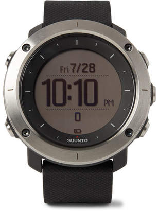 Suunto Traverse GPS Outdoor Exploration Stainless Steel and Silicone Watch