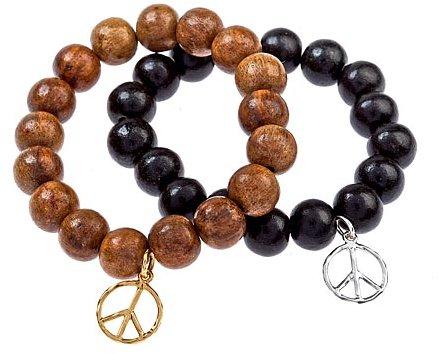Kerri Wilder Wood Peace Bracelets