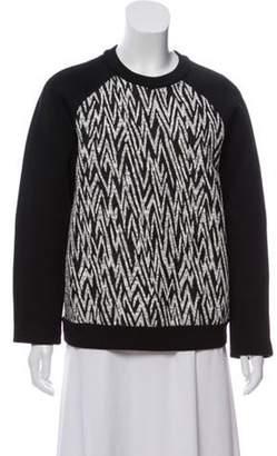 Proenza Schouler Tribal-Printed Medium-Weight Sweater Black Tribal-Printed Medium-Weight Sweater