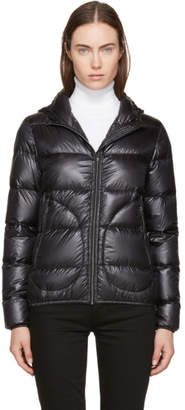 Herno Black Down Extra Light Hooded Jacket