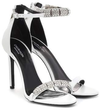 Calvin Klein Camelle embellished leather sandals