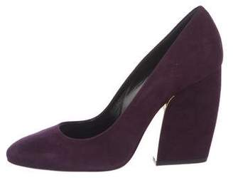 Pierre Hardy Suede Round-Toe Pumps