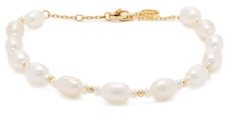 Anissa Kermiche Serpent De Perles Pearl Gold Plated Anklet - Womens - Pearl
