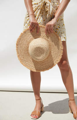 La Hearts Natural Straw Hat