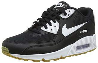 Nike Women''s WMNS Air Max 90 Gymnastics Shoes, (Black/White/Gum Light Brown/Wh 055)
