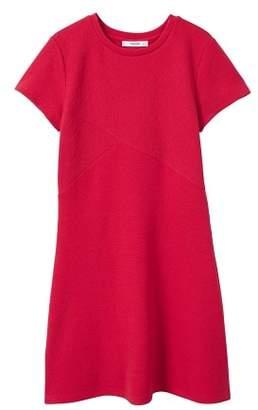 MANGO Textured shift dress