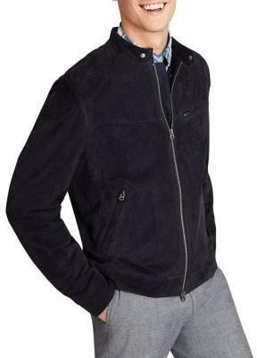 Brooks Brothers Red Fleece Full-Zip Suede Jacket