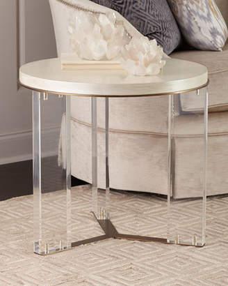 Ambella Malone Acrylic-Leg Side Table