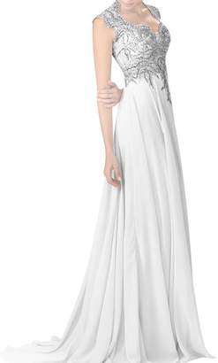 LiCheng Bridal Halter Ruched Sleeveless Lace Bodice Long Chiffon Bridesmaid Dresses A-line Formal Dresses US