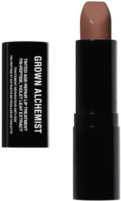 GROWN ALCHEMIST Tinted Age Repair Lip Treatment: Tri-Peptide Violet Leaf Extract