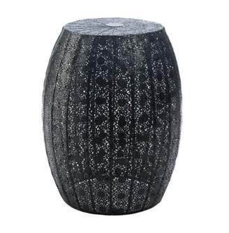 Accent Plus BLACK MOROCCAN LACE STOOL