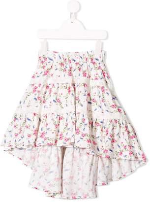 MonnaLisa ruffled asymmetric skirt