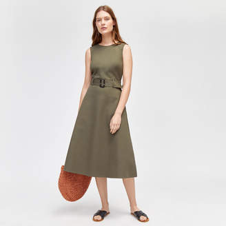Warehouse Compact Cotton Buckle Dress