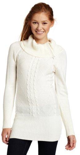 My Michelle Juniors Zipper Neck Sweater