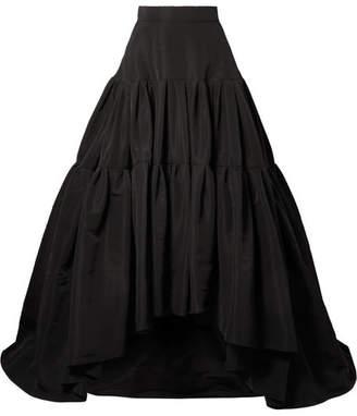 Reem Acra - Tiered Silk-faille Maxi Skirt - Black