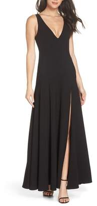 Fame & Partners The Hazel Front Slit Gown
