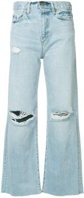 Simon Miller crop flared distressed jeans