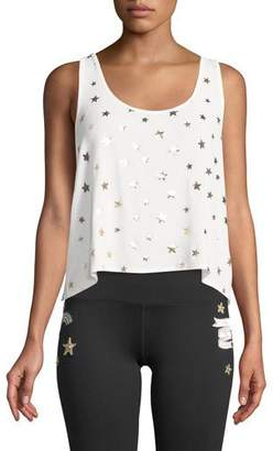 Spiritual Gangster Star-Print Scoop-Neck Tank